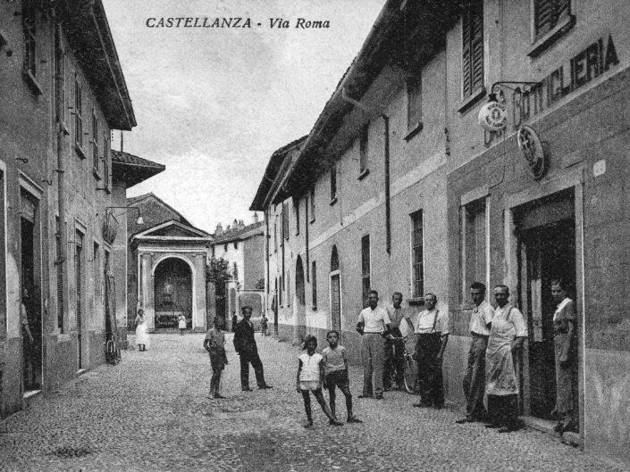 Fondo Giangiacomo Salsa Castellanza Via Roma primi del 900 scaled