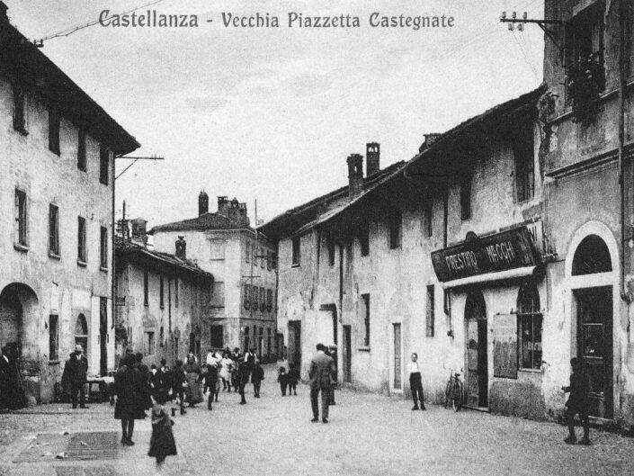 Fondo Giangiacomo Salsa Castellanza vecchia piazzetta Castegnate inizi del 900 scaled