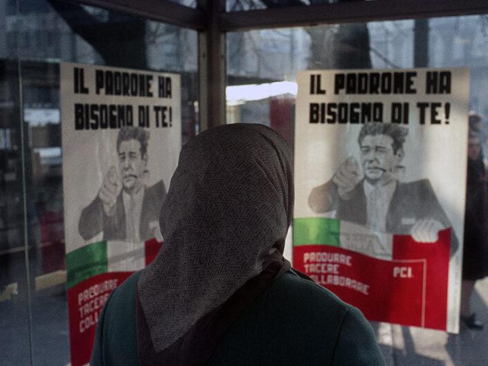 Fondo Franco Pontiggia Milano fermata del tram 1989
