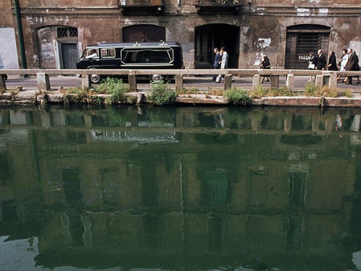 Fondo Franco Pontiggia Milano funerale sul naviglio Grande 1985