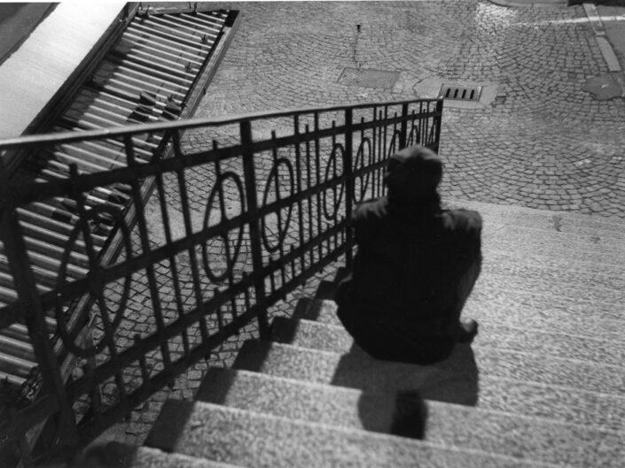 Fondo Maurizio Sbicego Castellanza Piazza Soldini scalinata 1997