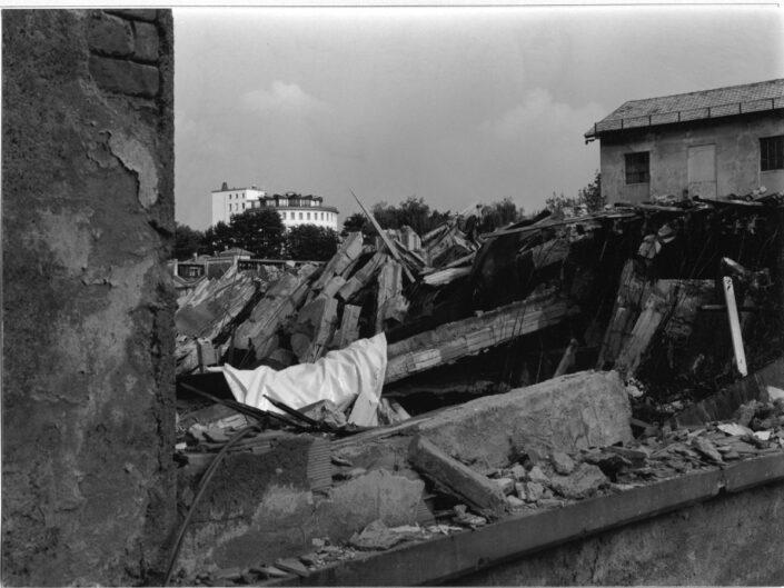 Fondo Roberto Bosio Castellanza veduta da via Giacomo Binda demolizione ex Ditta pomini 1997