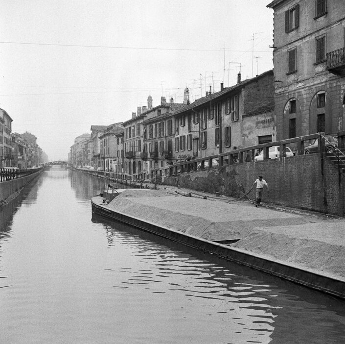 Fondo Virgilio Carnisio Milano alzaia Naviglio Grande 1969