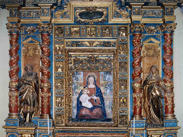 Fondo Afi - Casorate Sempione - Chiesa di santa Maria Assunta (1637) - Altare di san Tito di Antonio Pino - Foto Claudio Argentiero - 1990