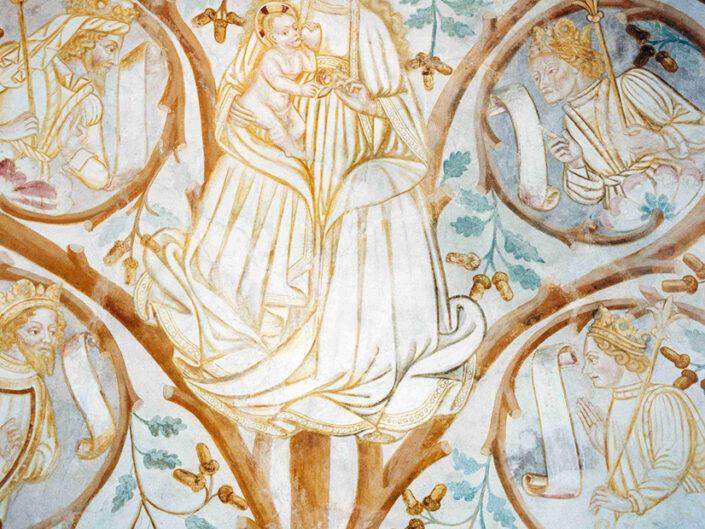 Fondo Afi - Somma Lombardo - Frazione Mezzana - Santuario della Madonna della Ghianda (1582-1639) - Affresco gotico nell'abside - Foto Claudio Argentiero - 1990