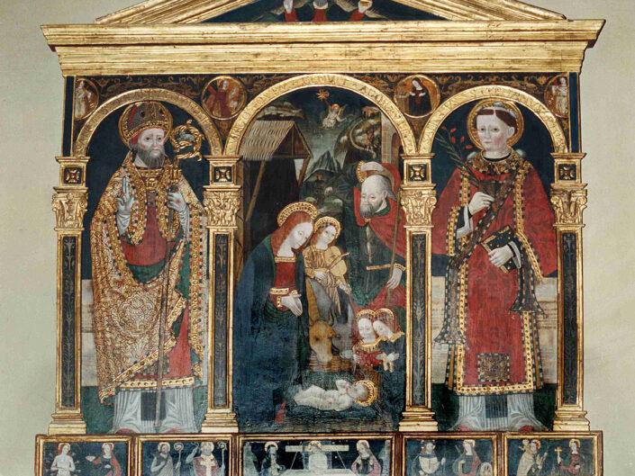Fondo Afi - Casorate Sempione - Chiesa di santa Maria Assunta (1637) - Trittico cinquecentesco di fattura lombarda - Foto Claudio Argentiero - 1991