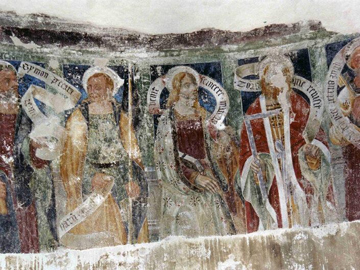 Fondo Afi - Bederoo Valtravaglia - Colleggiata (1137) - Canonica di San Vittore - Affresco dell'abside (1440-1550) - Foto Franco Rinaldin - 1991