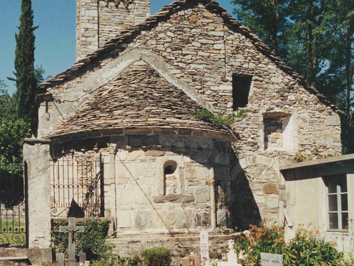 Fondo Afi - Castelveccana - Frazione Sarigo - Chiesa di san Giorgio annessa al cimitero (Sec. XII) - Foto Franco Rinaldin - 1991