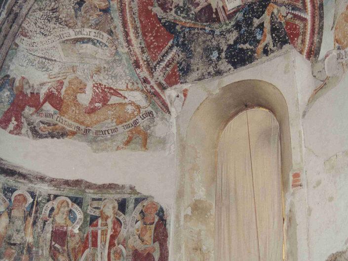 Fondo Afi - Bederoo Valtravaglia - Colleggiata (1137) - Canonica di San Vittore - Affreschi dell'abside (1440-1550) - Foto Franco Rinaldin - 1991