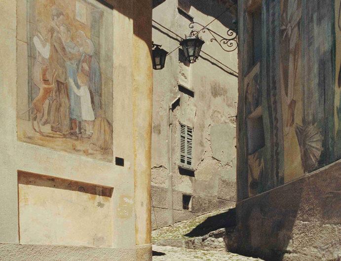 Fondo Afi - Arcumeggia - Affreschi nel borgo - Foto Franco Rinaldin - 1991