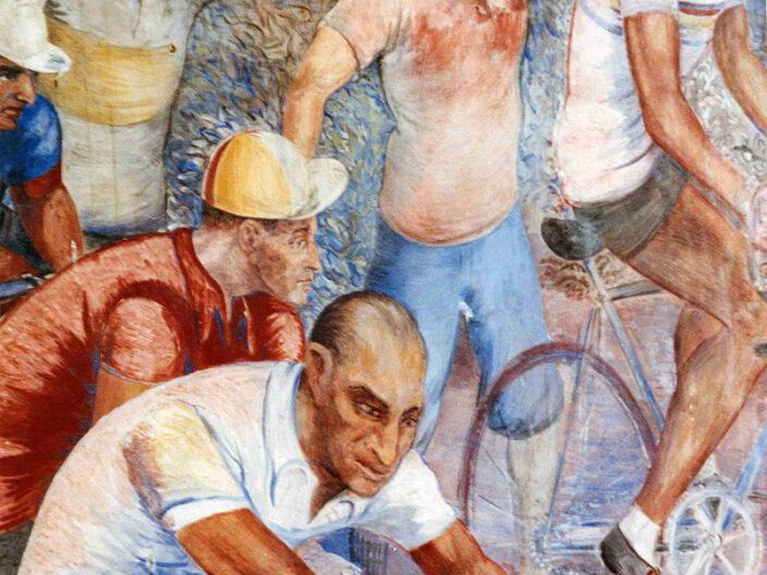 Fondo Afi - Arcumeggia - Affresco murale di Aligi Sassu - Foto Daniele Zuliani -1990