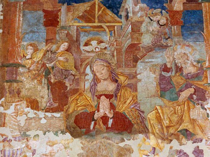 Fondo Afi - Carnago - Chiesa di San Martino- Affresco proveniente da Santa Maria Foris Portas in Castelseprio - Foto Daniele Zuliani - 1990