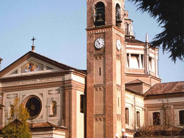 Fondo Afi - Cislago - Chiesa parrocchiale dell'Assunta (Sec. XIV) - Foto Roberto Bosio - 1991