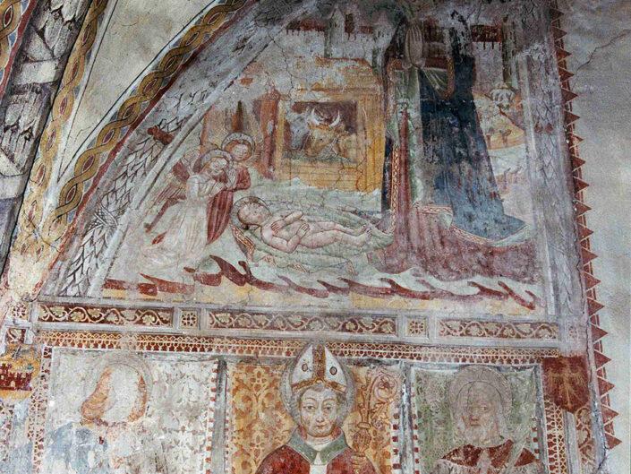 Fondo Afi - Leggiuno - Chiesa dei Santi Primo e Feliciano (Sec. IX -XI) - Affreschi - Foto Franco Rinaldin - 1990