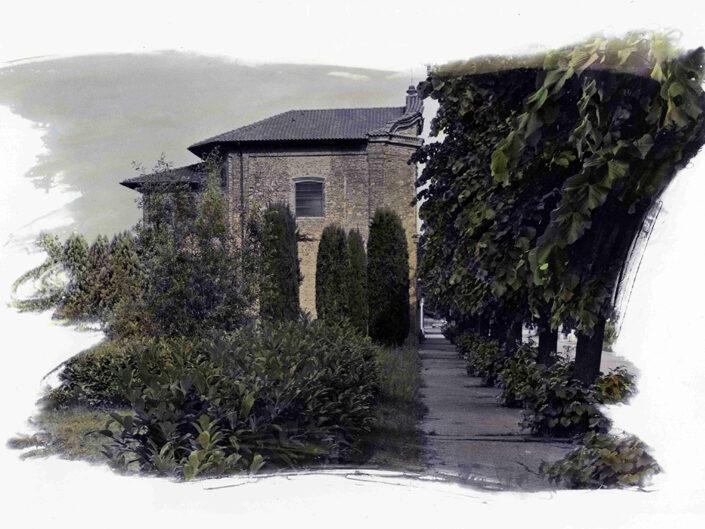Fondo Afi - Samarate - Frazione San Macario - Chiesetta del cimitero - Dipinta a mano - Foto Claudio Argentiero - 1990