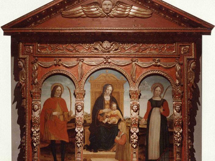 Fondo Afi - Somma Lombardo - Chiesa Prepositurale di Santa Agnese - Trittico cinquecentesco - Foto Claudio Argentiero - 1990