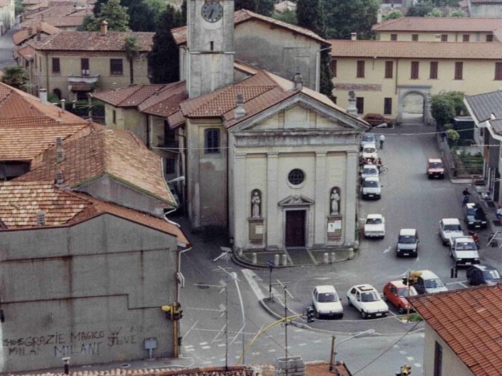 Fondo Afi - Somma Lombardo - Chiesa di San Bernardino ( 1523 circa) - Foto Claudio Argentiero - 1989