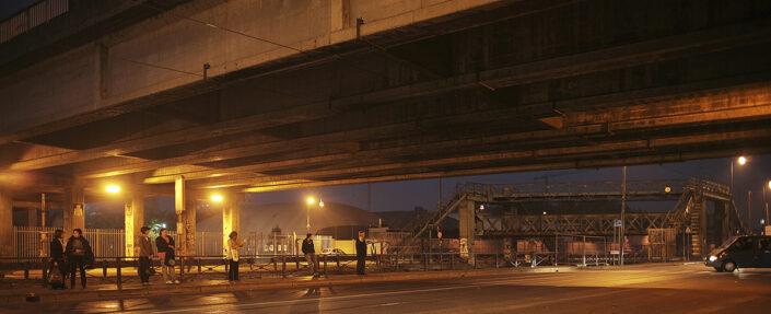 Fondo Claudio Argentiero - Milano - Lungo il Naviglio Grande - Notturno - 2006