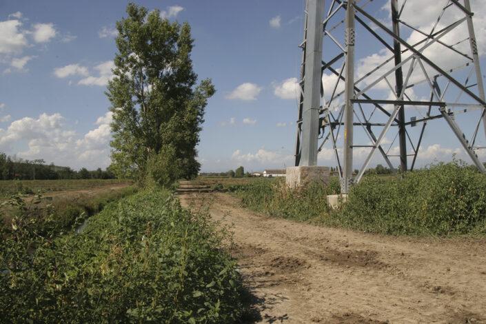Fondo Roberto Bosio - Parco Agricolo Sud Milano - Caleppio di Settala - Paesaggio con Cascina Gaita - Agosto 2006