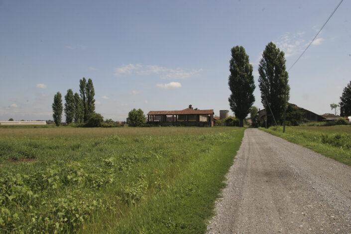 Fondo Roberto Bosio - Parco Agricolo Sud Milano - Mediglia - Paesaggio - Sullo sfondo Cascina Maiocca - Agosto 2006